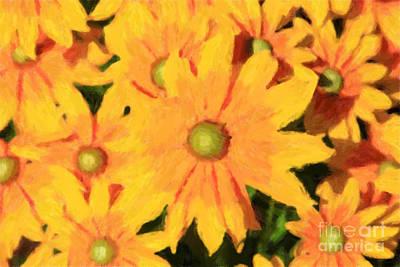 Digital Art - Yellow Daisies by Jill Lang