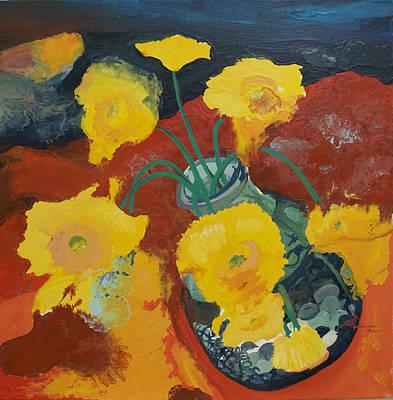Yellow Daisies Print by Joseph Demaree