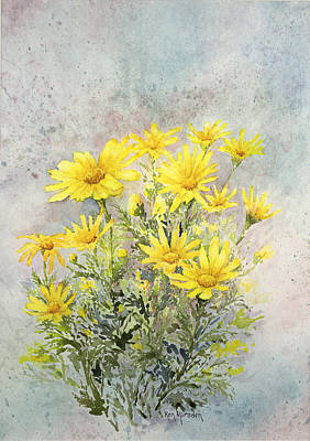 Painting - Yellow Daisies by Ken Marsden