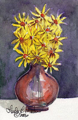 Painting - Yellow Daisies by Linda L Martin