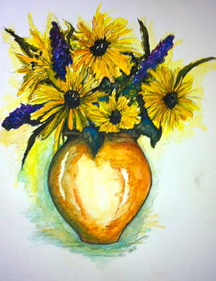 Painting - Yellow Daisies by Rae Chichilnitsky
