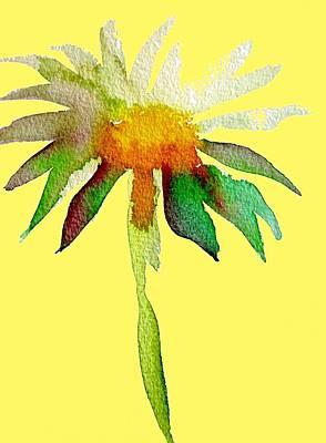 Yellow Daisy Art Print by Sacha Grossel