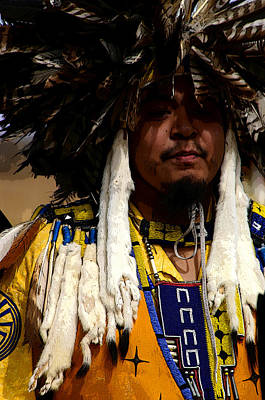 Pow Wow Photograph - Yellow Dancer by Joe Kozlowski