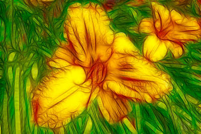 Painting - Yellow Day Lilies by Omaste Witkowski