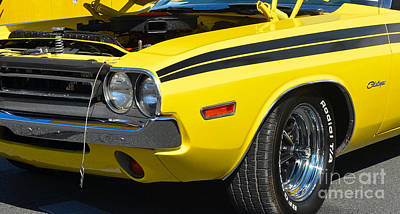 Photograph - Yellow Dodge Challenger by Mark Spearman
