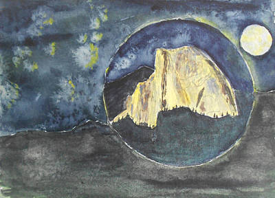 Half Dome Painting - Yellow Dome by David  McCauley
