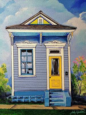 Painting - Yellow Door Shotgun  by John  Duplantis