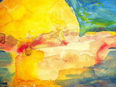 Painting - Yellow Explosion by Jacqueline Schreiber