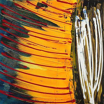 Contemporary Abstract Painting - Yellow Express by Rob Van Heertum