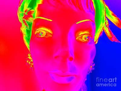 Digital Art - Yellow Eyed Lady by Ed Weidman