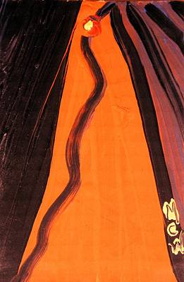 Yellow Eyed Serpent Art Print