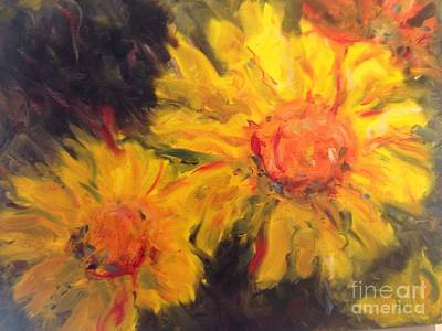 Painting - Yellow Faces by Karen Carmean