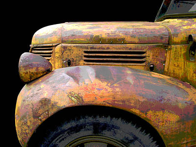 Photograph - Yellow Fargo - Posterized by Larry Hunter