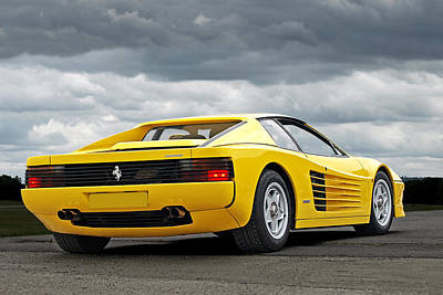 Photograph - Yellow Fever - Ferrari Testarossa by Gill Billington