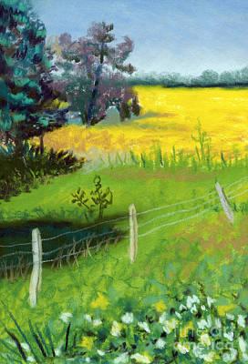Yellow Field Art Print by Tanya Provines