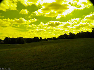 Photograph - Yellow Fields And Clouds by Nick Kirby