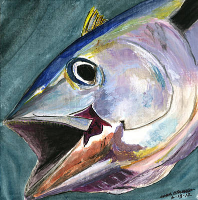 Painting - Yellow Fin by Sara Stevenson