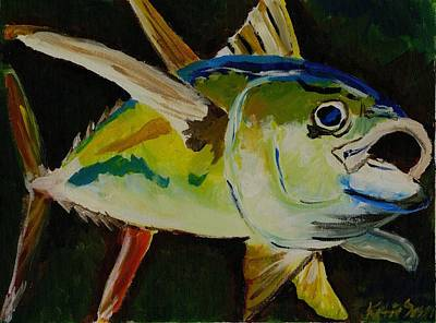 Painting - Yellow Fin Tuna by Katie Sasser