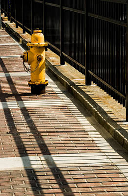 Photograph - Yellow Fire Hydrant - Pittsfield - Massachusetts by David Smith