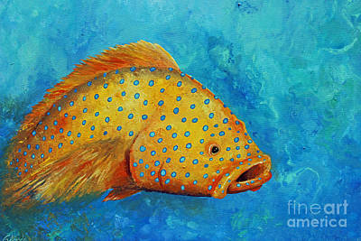 Yellow Fish  Art Print by Gabriela Valencia