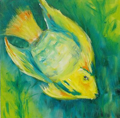 Painting - Yellow Fish by Tara Moorman