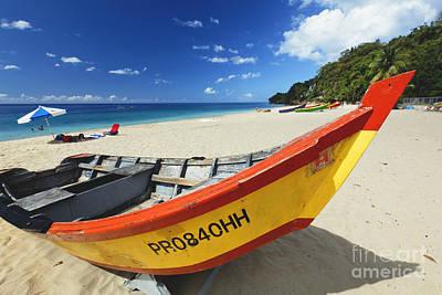 Aguadilla Photograph - Yellow Fishing Boat by George Oze