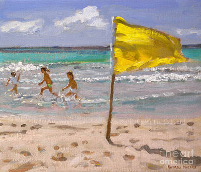 Caribbean Sea Painting - Yellow Flag  Barbados by Andrew Macara