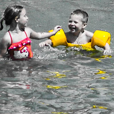 Photograph - Yellow Floaties by Christy Usilton