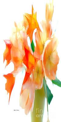 Digital Art - Yellow Flower Bouquet by Rafael Salazar