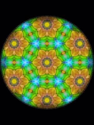 Digital Art - Yellow Flower Mandala by Karen Buford