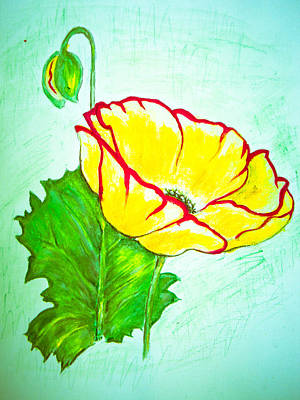 Drawing - Yellow Flower by Suzie Hanscom