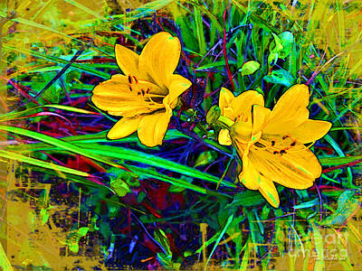 Photograph - Yellow Flowers by Joan  Minchak