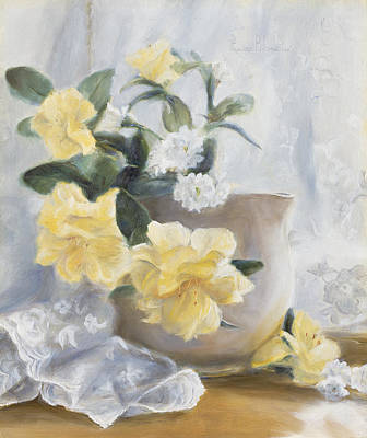 Yellow Flowers Original by Lucie Bilodeau