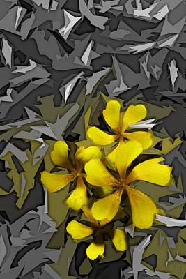 Adobe Cc Digital Art - Yellow Flowers by Matt Lindley