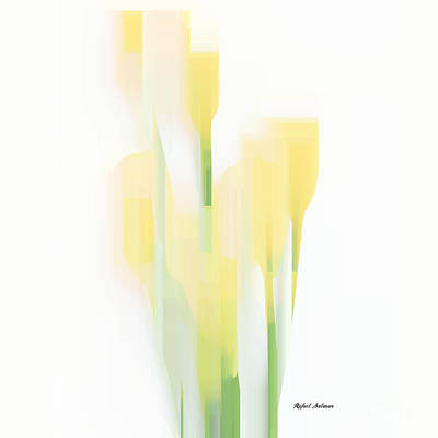 Digital Art - Yellow Flowers by Rafael Salazar