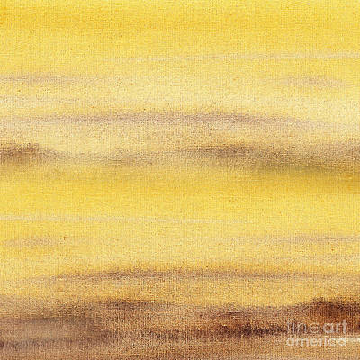 Landscapes Royalty-Free and Rights-Managed Images - Yellow Fog Abstract Landscape  by Irina Sztukowski