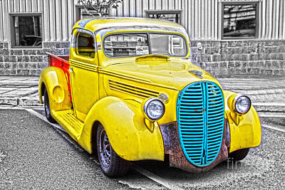 Photograph - Yellow Ford by Sonya Lang