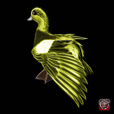 Mixed Media - Yellow Fractal Wigeon 7702 - Bb by James Ahn