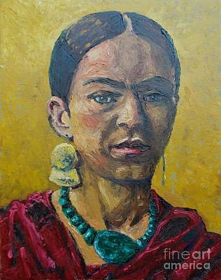 Painting - Yellow Frida by Lilibeth Andre