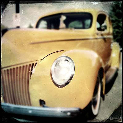 Photograph - Yellow Gangsta Street Rod by Tim Nyberg
