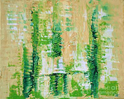 yellow green GROWTH Abstract by Chakramoon Art Print by Belinda Capol