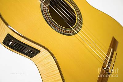 Yellow Guitar Art Print