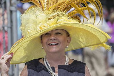 Photograph - Yellow Hat At 2014 Kentucky Derby  by John McGraw