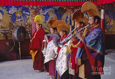 Photograph - Yellow Hat Preformance - Ladakh India by Craig Lovell