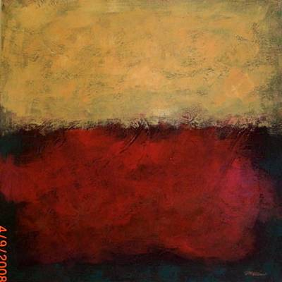 Cadmium Red Painting - Yellow Haze  by Jim Ellis