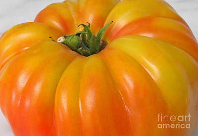 Photograph - Yellow Heirloom Tomato Art Prints by Valerie Garner