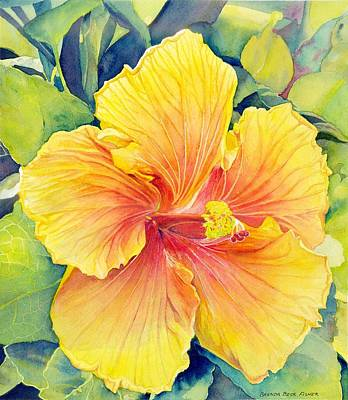 Painting - Yellow Hibiscus by Brenda Beck Fisher