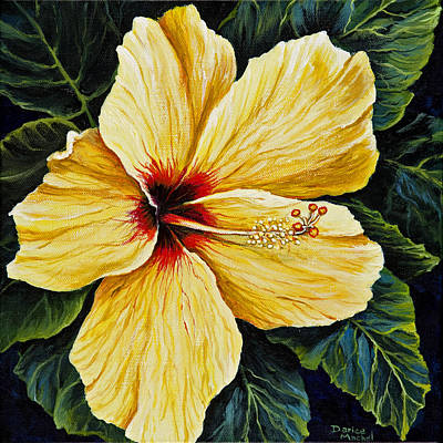 Painting - Yellow Hibiscus by Darice Machel McGuire