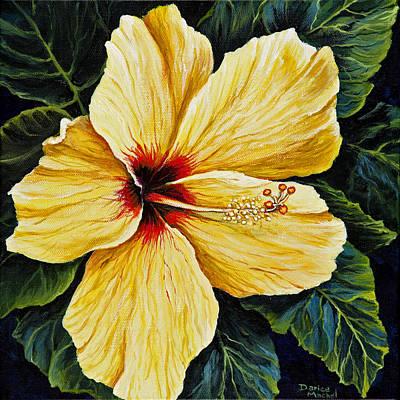 Yellow Hibiscus Art Print by Darice Machel McGuire