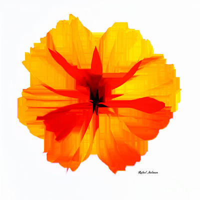 Digital Art - Yellow Hibiscus by Rafael Salazar